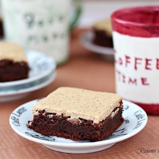 Espresso Brownies With Espresso Frosting