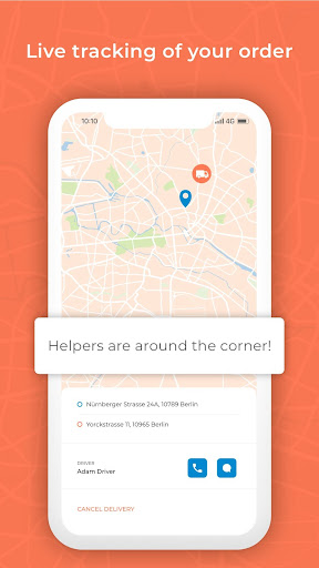 MovingaNow - Book a transport and helpers - screenshot