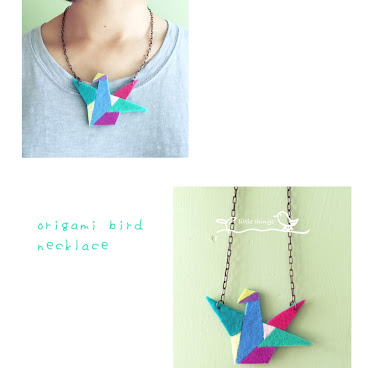 origami bird necklace(sold)