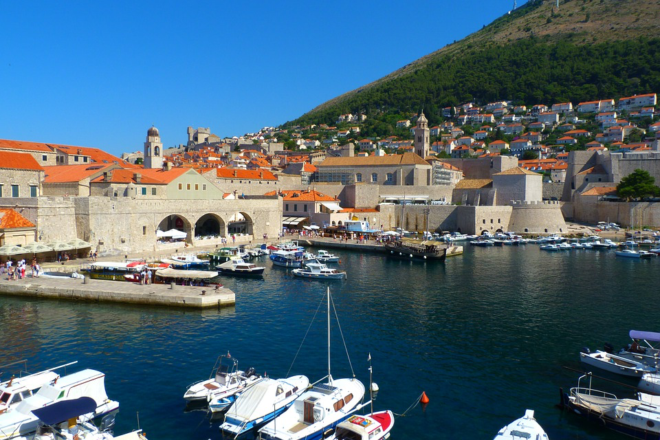 A harbour in Croatia on a beautiful sunny day