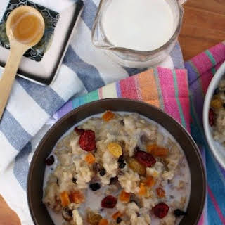 Brown Rice Breakfast Pudding.