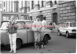 "Photo: Trabbi am Reichstag im November 1989  ""Mister Gorbatschow, tear down this wall!"""