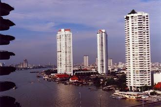 Photo: #002-Vue de notre chambre-Le Shangri-La de Bangkok