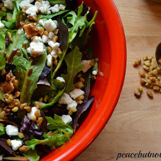 Cranberry Walnut Green Salad With Maple Vinaigrette