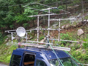Photo: Rear Microwave and Front V/UHF antennas