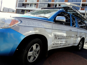 Photo: Williamstown Plaster partial vehicle wrap