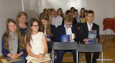 """Photo: III EDYCJA POWIATOWEGO KONKURSU ORTOGRAFICZNEGO """"Mistrz ortografii polskiej"""" w Gimnazjum nr 1 w Płońsku [16.06.2016]"""