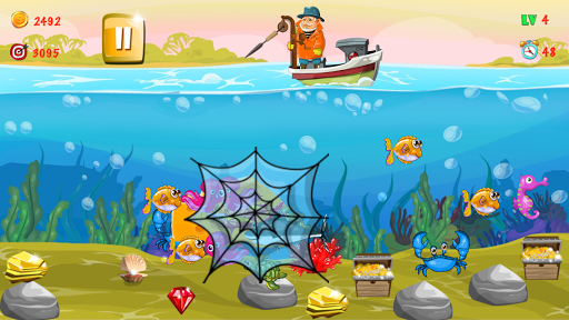 Gold miner, Fishing, gold rush apkmr screenshots 5