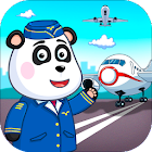Airport professions: Kids games with Panda icon
