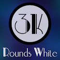 3K Rounds White - Icon Pack icon
