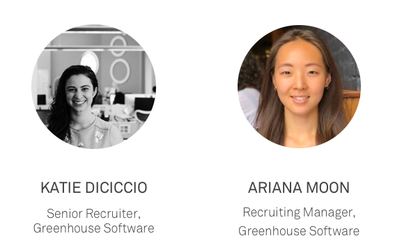 Two women employees from the Greenhouse Recruiting team