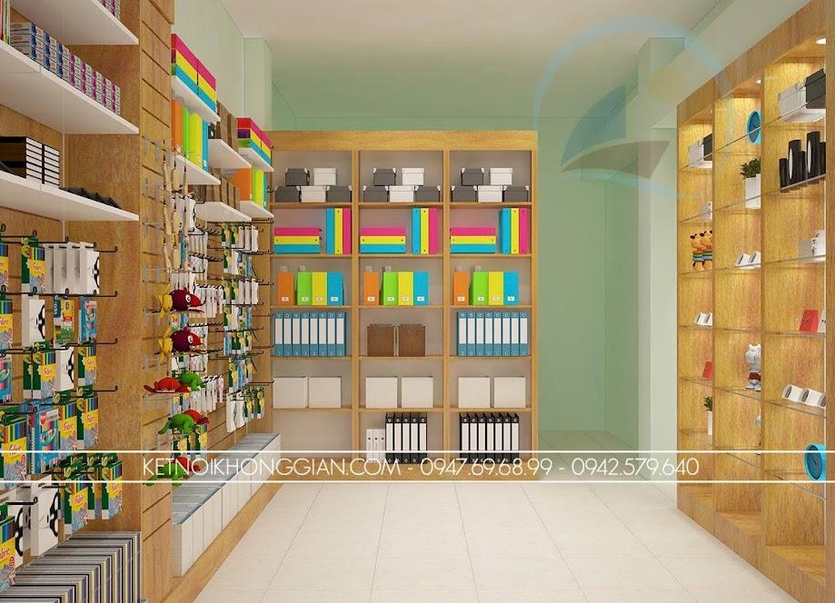 thiết kế thi công nội thất nhà sách