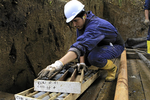 A worker from the Curimining company boxes core samples while conducting mineral exploration in Las Naves, about 350km southwest of Quito, Ecuador. BHP Billiton is among commodity producers eyeing entry into mining projects in the country. File Picture: REUTERS