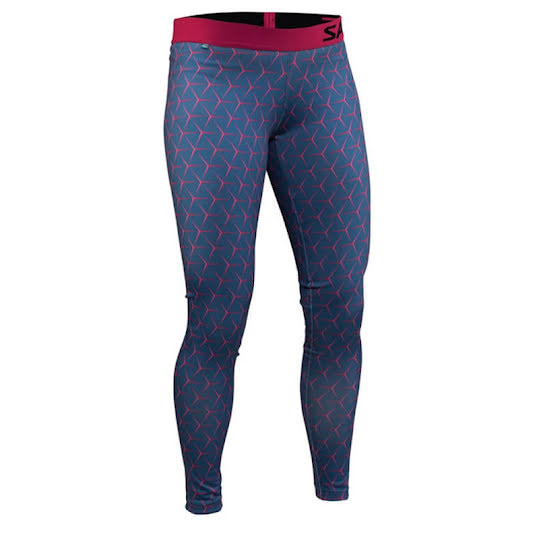 Salming Run Flow Tights, Hexagone Illusion - all-over-print, Women, L