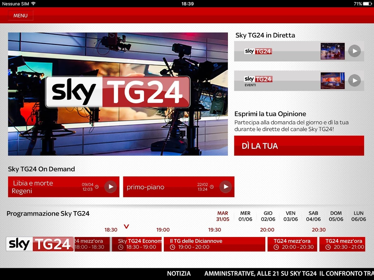 Sky TG24- screenshot