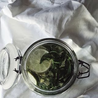 Ginger, Lime And Mint Sun Tea
