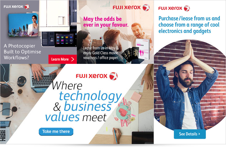 Fuji Xerox display ads