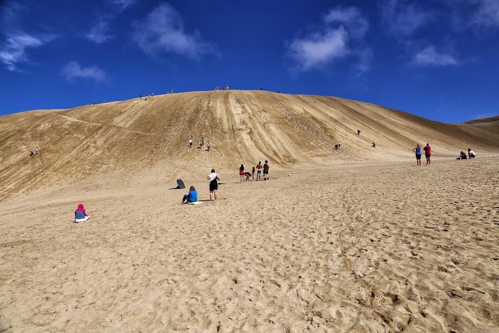 Sandsurfing