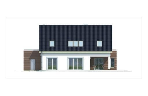 Ada wersja A z podwójnym garażem - Elewacja tylna