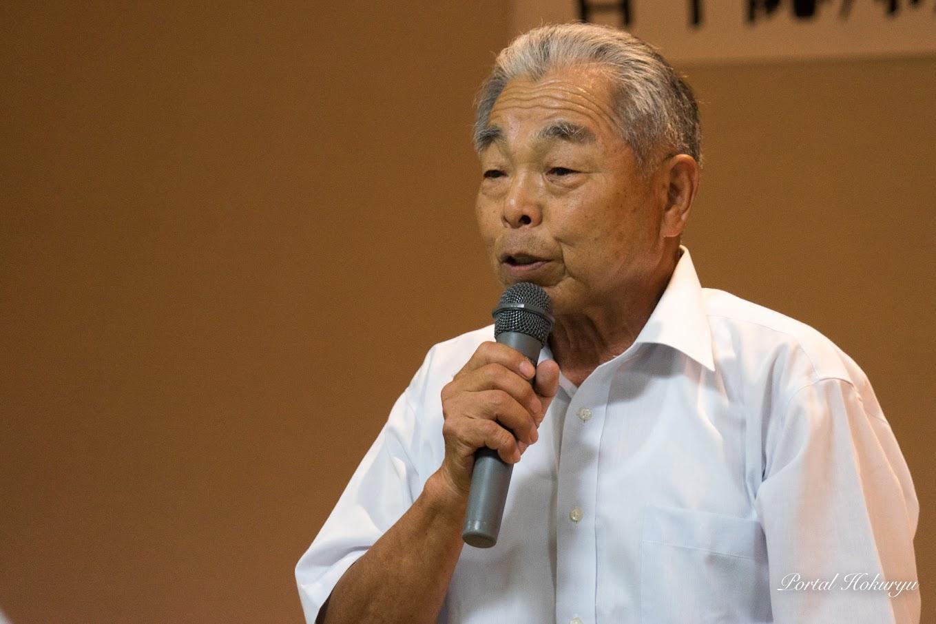 閉会挨拶:若年認知症家族会空知ひまわり・田中盛亮 副代表