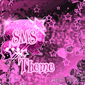 Pink Dark Star GO SMS Theme