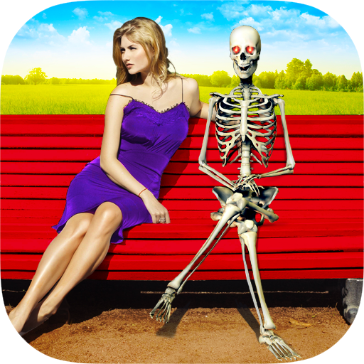Skeleton in Photo Icon