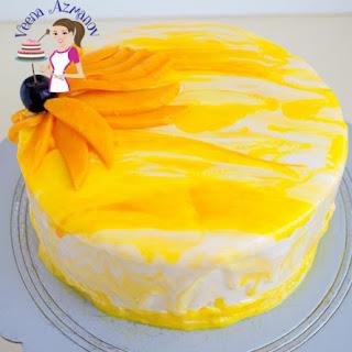 Mango Mousse Cake with Mango Jello.