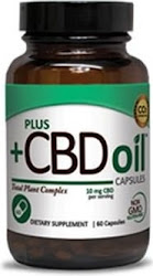 Plus +CBD Oil Total Plant Complex - 900mg, 60 Capsules