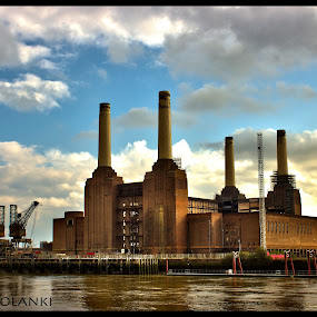 missing old days by Jinesh Solanki - Buildings & Architecture Other Exteriors ( cool, sky, hdr, london, blue, green, peace, battersea park, high dynamic range )