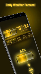 Weather Forecast Widget with Battery and Clock APK image thumbnail 1