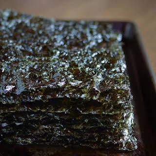 Homemade Roasted Seaweed.