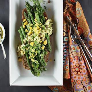Asparagus with Hard-Boiled Egg Vinaigrette.