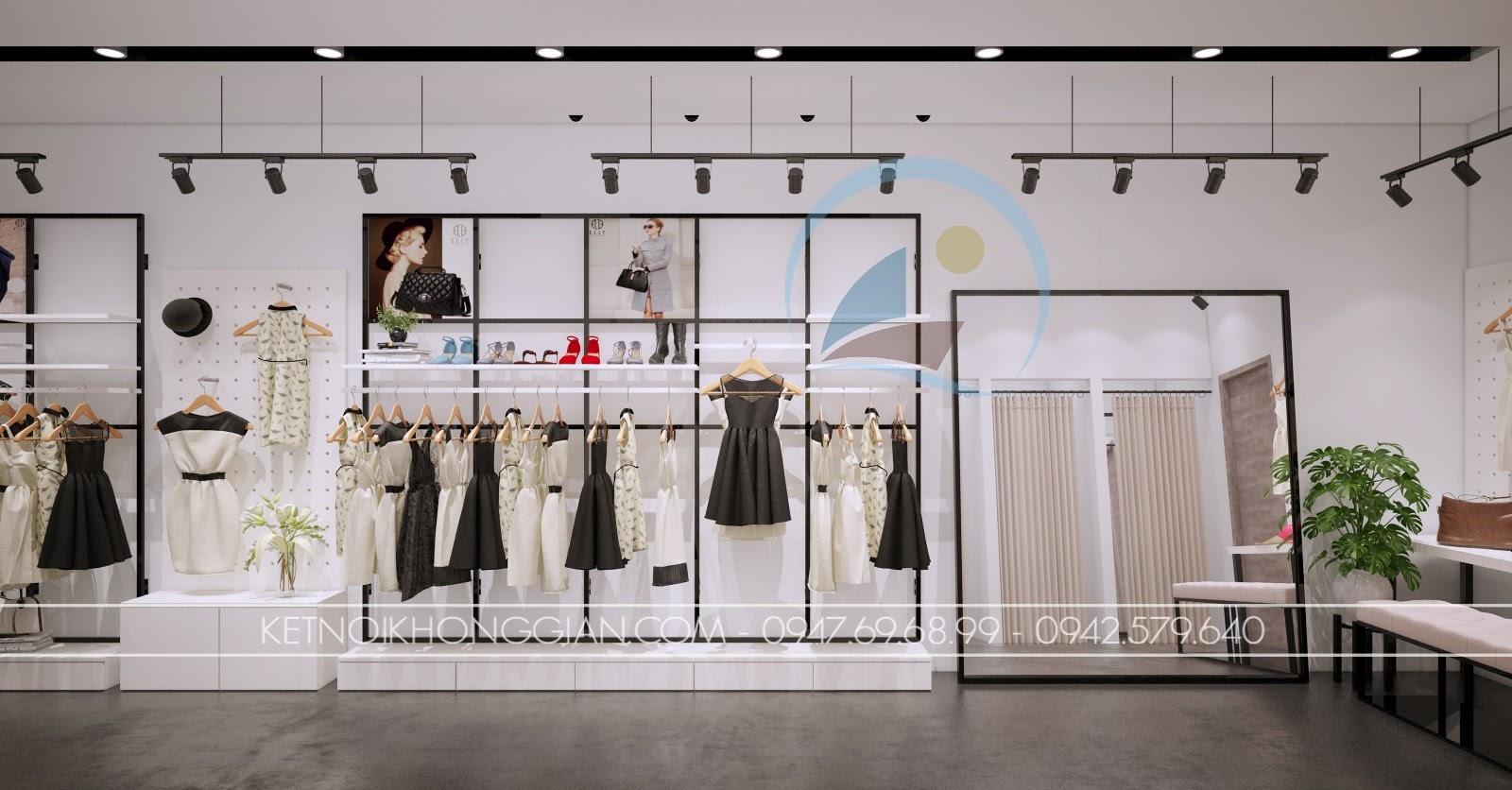 thiết kế shop thời trang giá rẻ nhỏ nhắn