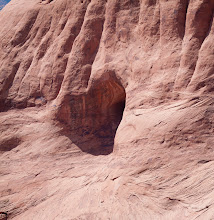 Photo: A heart shaped reflection on the rock, across the canyon from us.