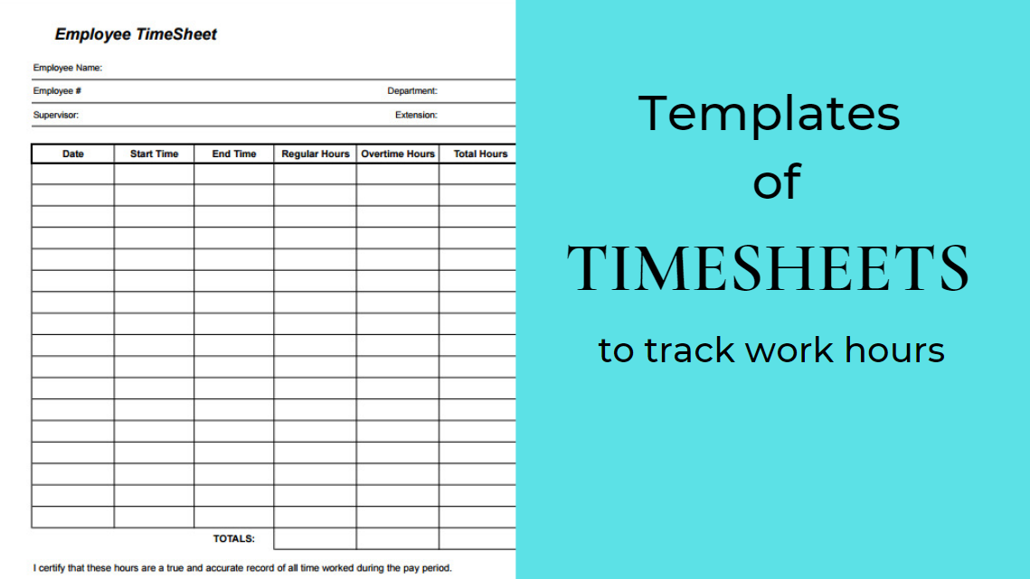 TimeSheets Templates for the Insanely Rushed