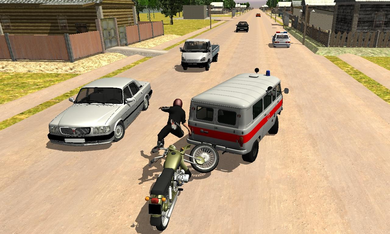 Russian Moto Traffic Rider 3D- screenshot