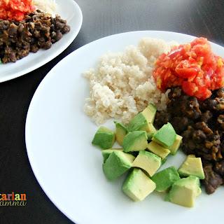Rice and Beans with Mango Salsa – #glutenfree #vegan #budgetfriendly