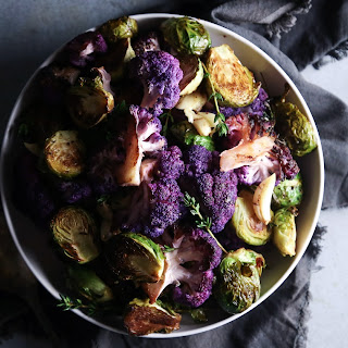 Roasted Cauliflower & Brussel Sprouts.