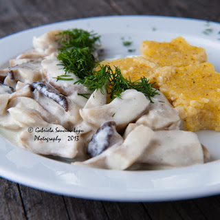 Boletus Mushrooms With Sour Cream