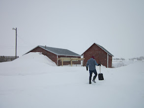 Photo: So did the snow! Time for some shovelling.