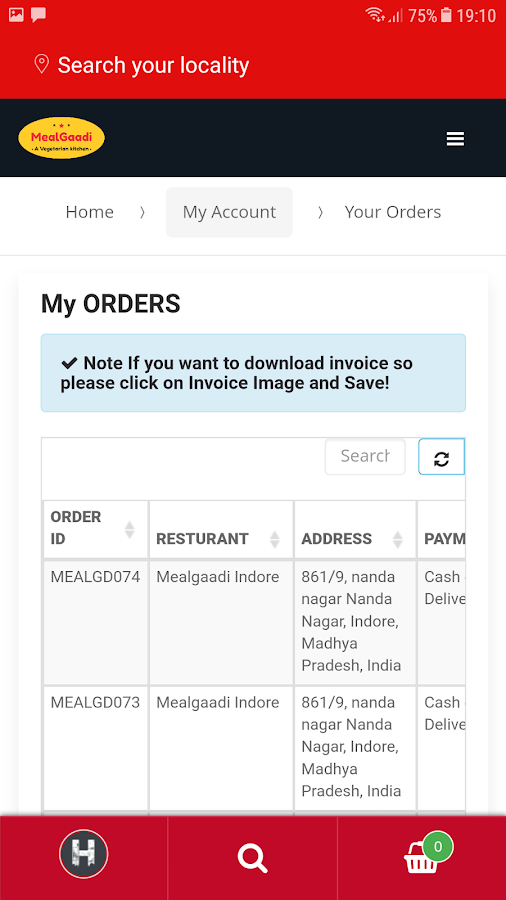 MealGaadi - Late Night Veg Food Delivery in Indore- screenshot