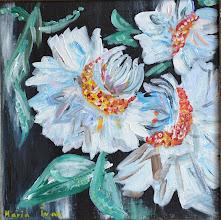Photo: Мария Иван, Белые цветы, 30х30 см, холст, акрил