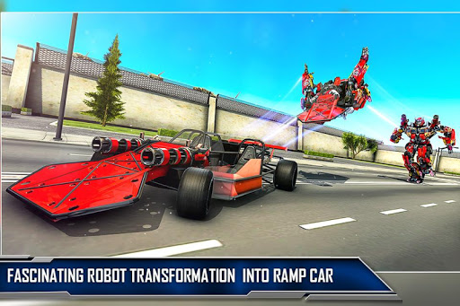 Ramp Car Robot Transforming Game: Robot Car Games screenshots 1