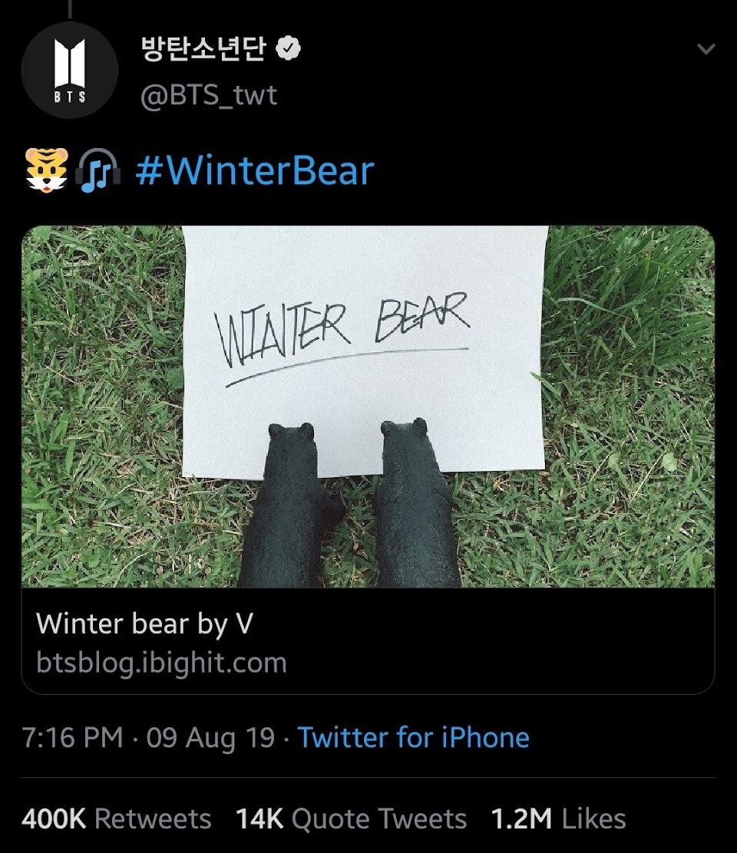 v winter bear tweet