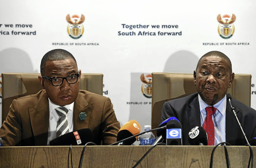 Education opportunities: Minister of Higher Education and Training Blade Nzimande, right, with his deputy Mduduzi Manana. Picture: SIYABULELA DUDA