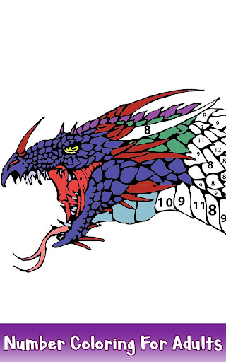 Dragons Color by Number - Animals Coloring Book for PC