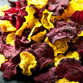 Beet Chips Raw.