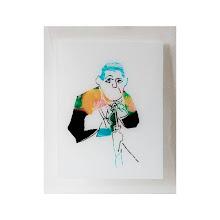 Photo: Homme au parapluie sérigraphie originale sur verre, 40x50 cm tirage en 10 exemplaires numérotés et signés. © Nadja Cohen