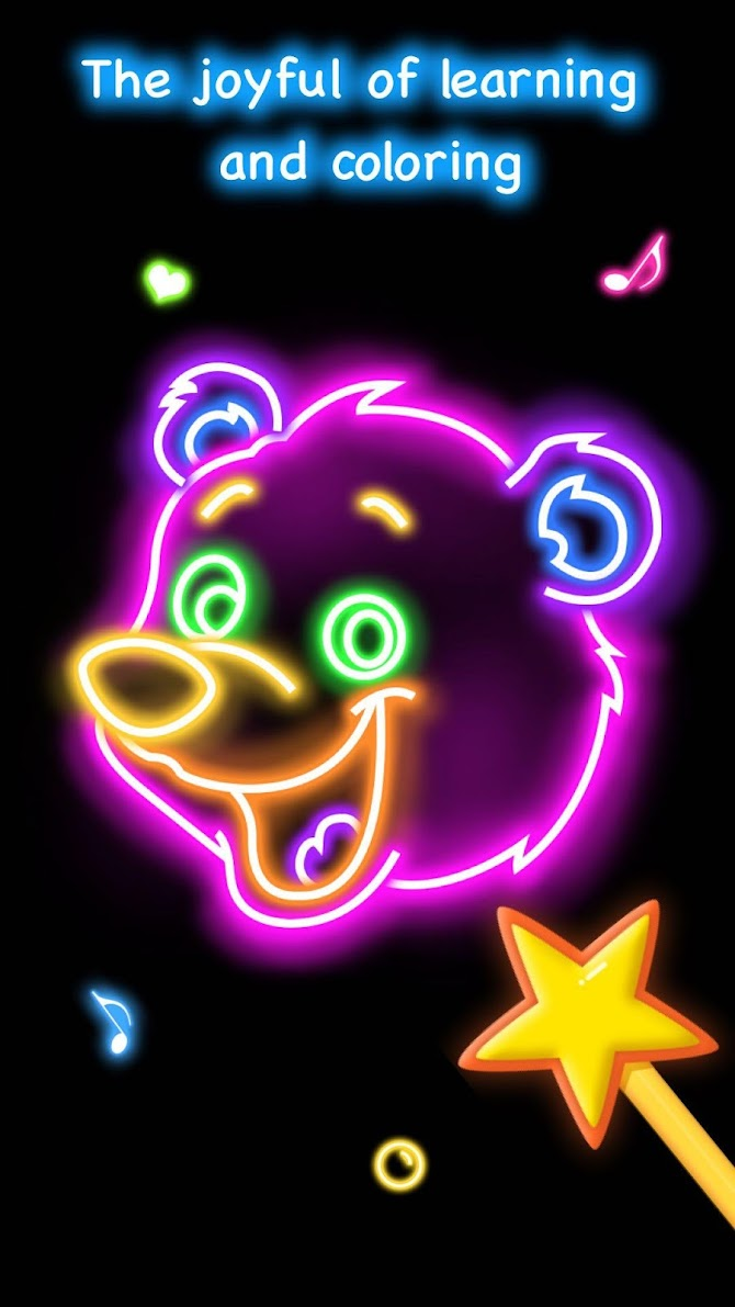 Draw Glow Animals Android 5