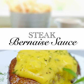 Classic French Bernaise Sauce.
